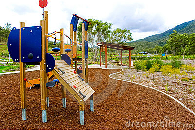 Playground in residential area