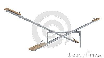 Playground seesaw or teetertotter