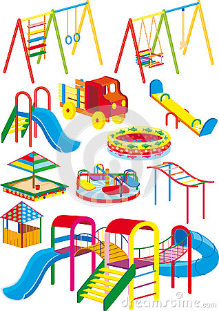 Free Playground Set Royalty Free Stock Photography - 26253847