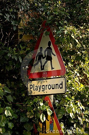 Playground Sign post