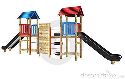 Playground slide and equipment