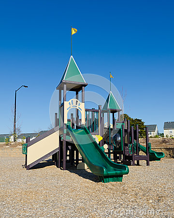 Playground in suburban area