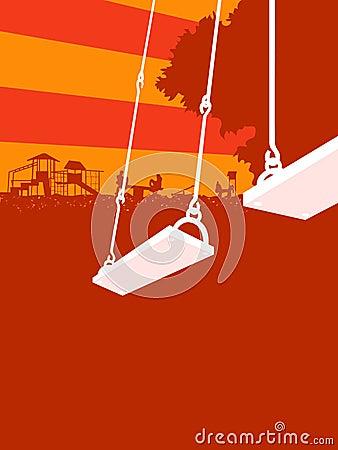 Free Playground Sunset Royalty Free Stock Photo - 10157295