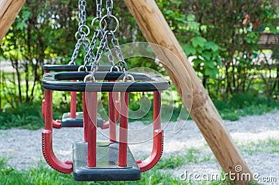 Playground swing set