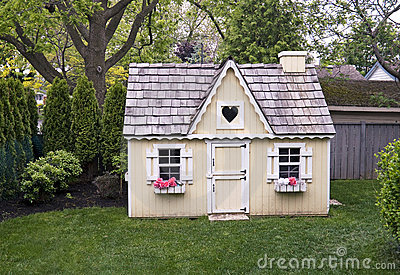 Playhouse in the backyard