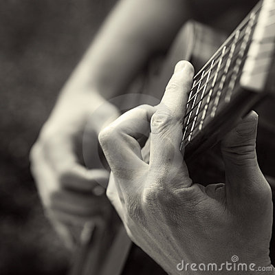 Free Playing Acoustic Guitar Royalty Free Stock Image - 10124186