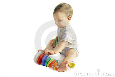 Playing baby boy