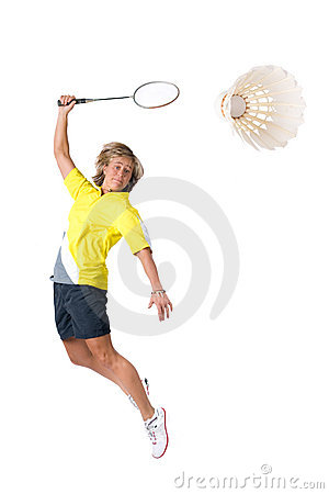 Free Playing Badminton Royalty Free Stock Image - 8437236