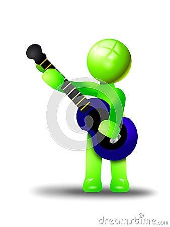 Playing a bass