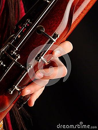Playing bassoon