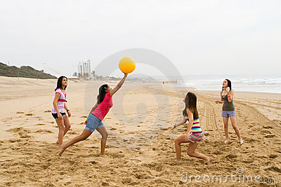Playing beach ball