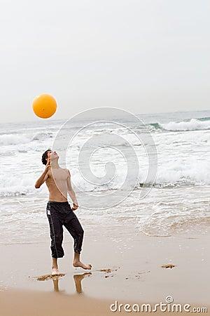 Playing beach ball