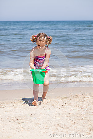 Playing on the beach