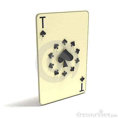 Playing Card: Ace of Spades as 11 spots