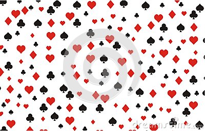 Playing card background pattern