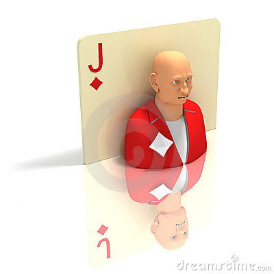 Playing Card: Jack of Diamonds with reflection
