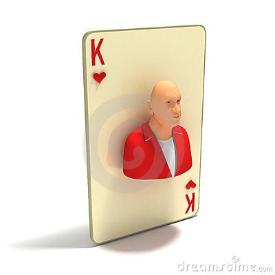 Playing Card: King of Hearts, variant 2