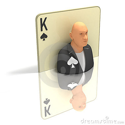 Playing Card: King of Spades with reflection