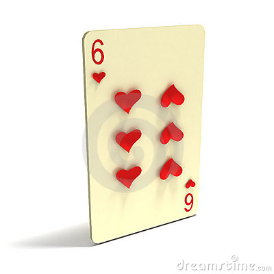 Playing Card: Six of Hearts