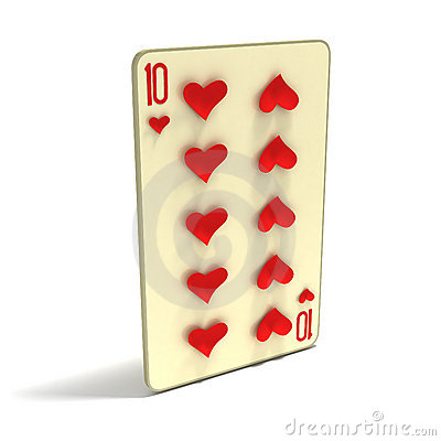 Playing Card: Ten of Hearts