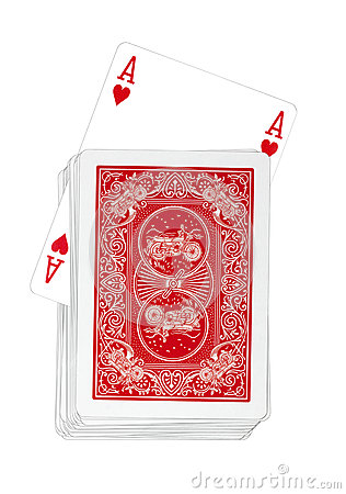 Playing Cards - Ace of Hearts Turns Up in Red Deck