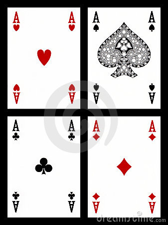 Free Playing Cards - Aces Royalty Free Stock Photography - 14026917