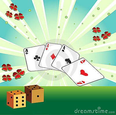 Free Playing Cards And Dices Royalty Free Stock Photos - 8928138