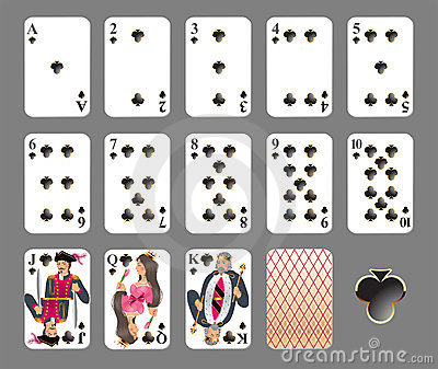 Playing cards - club suit