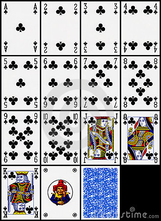 Playing cards - the clubs suit