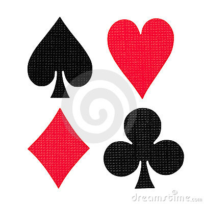Free Playing Cards Colors Royalty Free Stock Photography - 18539647