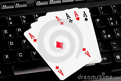 Playing cards on computer keyboard