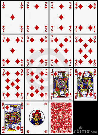 Playing cards - the diamonds suit
