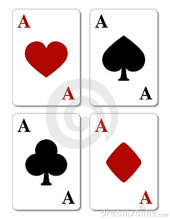 Free Playing Cards, Four Aces Royalty Free Stock Photography - 6318977