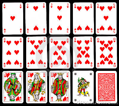 Playing cards - Hearts
