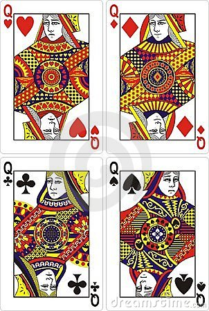 Playing cards queen 60x90 mm