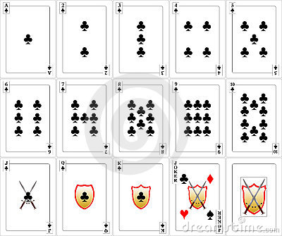 Playing Cards set - Clubs
