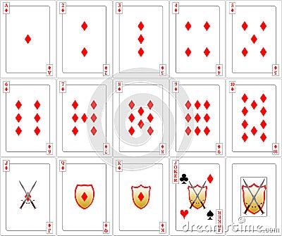 Playing Cards set - Diamonds