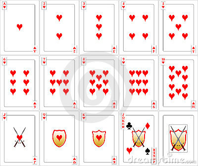 Playing Cards set - Hearts