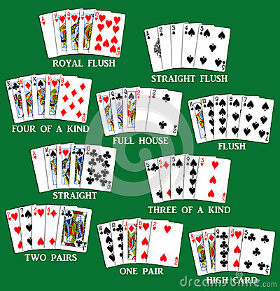 Free Playing Cards - Set Of Poker Hands Stock Images - 28850274