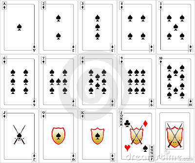 Playing Cards set - Spades