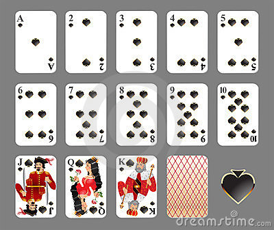 Playing cards - spade suit