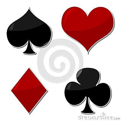 Playing Cards Symbols Royalty Free Stock Image Image