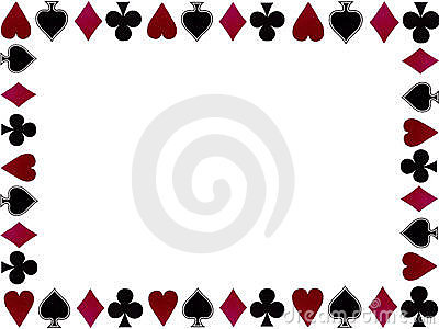 Playing cards symbols frame