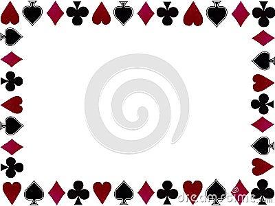 Playing cards symbols frame