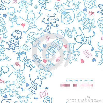 Playing children corner decor pattern background