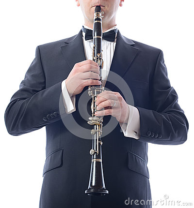 Playing the clarinet