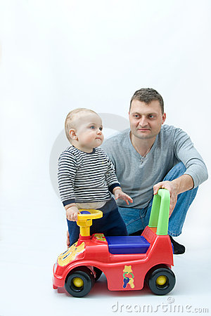 Playing with father