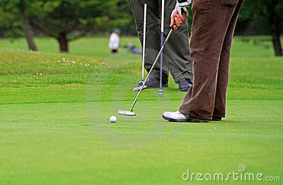 Playing golf scenery
