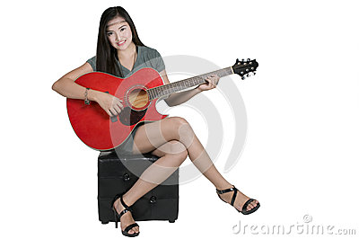 Playing guitar hobby