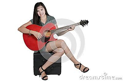 Playing guitar hobby